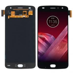 Дисплей Motorola XT1710 Moto Z2 Play  с сенсором (тачскрином) черный, OLED