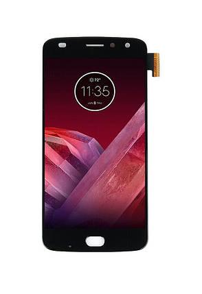 Дисплей Motorola XT1710 Moto Z2 Play  с сенсором (тачскрином) черный, OLED, фото 2