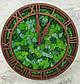 Часы настенные из дерева и Норвежского мха (40 см). Настольные часы., фото 8