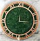 Часы настенные из дерева и Норвежского мха (40 см). Настольные часы., фото 9