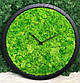Часы настенные из дерева и Норвежского мха (40 см). Настольные часы., фото 3