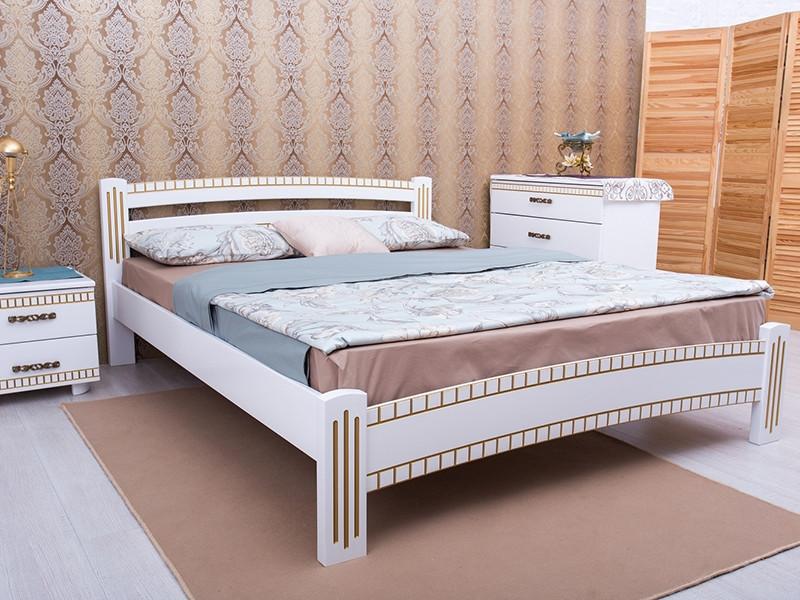 Кровать Милана Люкс с фрезеровкой. ТМ Олимп