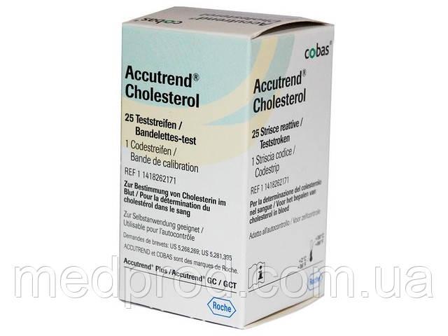 Тест-полоски Холестерин №25 cholesterol к экспресс-анализатору Аккутренд Плюс