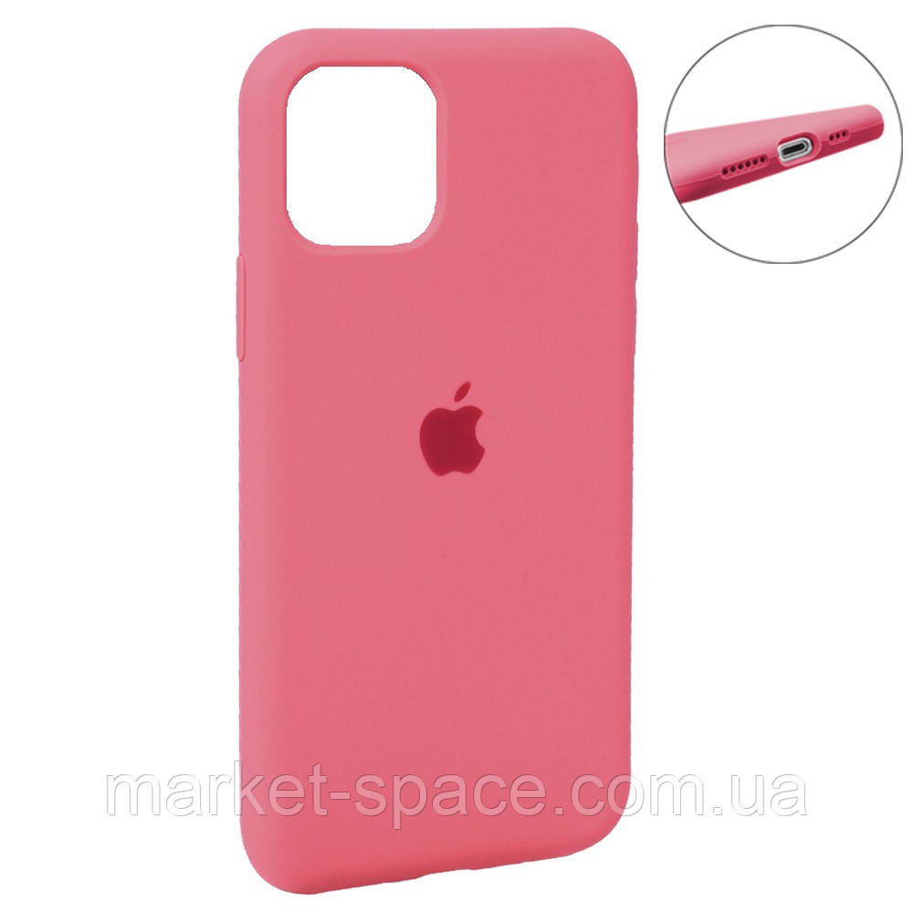 """Чехол силиконовый для iPhone 11 Pro Max. Apple Silicone Case, цвет """"Hot Pink (29)"""" (с закрытым низом)"""