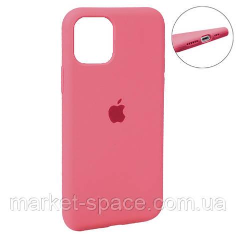 """Чехол силиконовый для iPhone 11 Pro Max. Apple Silicone Case, цвет """"Hot Pink (29)"""" (с закрытым низом), фото 2"""