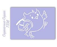 Трафарет для пряников сова