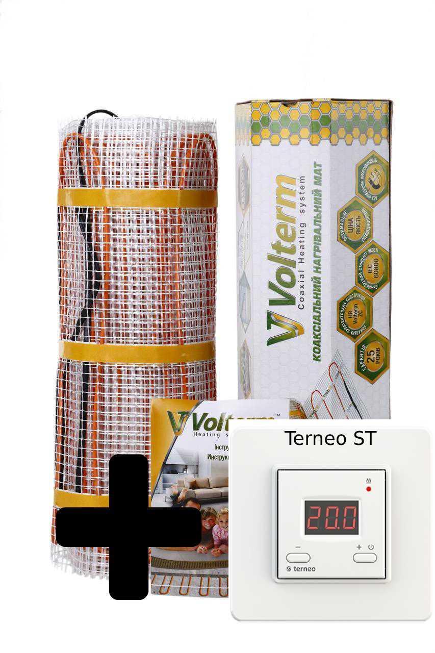 Теплый пол нагревательный мат Volterm Classic Mat 7.8 кв.м 1100W комплект(Classic Mat 1100)