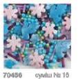 """Посыпка ТМ""""Украса""""перламутровая голуби,цветы.серебро №16  7г(код 01341)"""