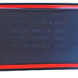 Пластиковая защитная накладка на задний бампер для Citroen Jumpy III / Spacetourer (с 2 задними дверьми) 2016+, фото 6