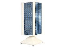 Поворотный металлический шкаф с пластиковыми ящиками MT-304-306 Н1650*560*560 мм