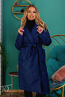 Женское кашемировое пальто батал