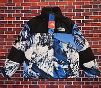 Мужская зимняя куртка - Пуховик Supreme x в стиле The North Face Nuptse 700 Mountain (горы)