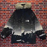 Мужская зимняя куртка - Пуховик в стиле The North Face Winter (горы) черная
