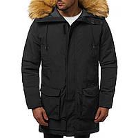 Мужская зимняя длинная куртка (пальто, парка) черная