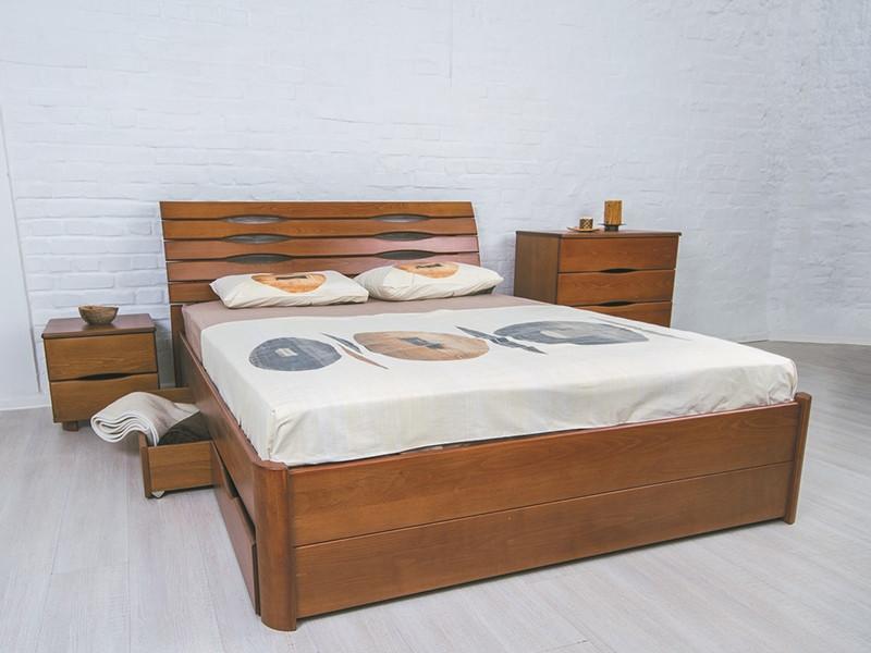 Кровать Марита Люкс с ящиками. ТМ Олимп