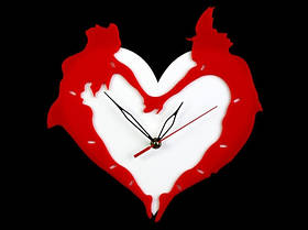 Настенные Часы Вьерронд (30х30х4 см) Пластик. Любовь. Тихий ход