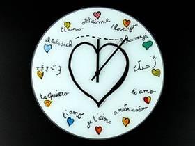 Настенные Часы Вьерронд (35х35х4 см) Стекло. Ай лав Ю