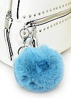 """Брелок YES с пушком """"Blue Fluffy"""" код: 558114, фото 2"""