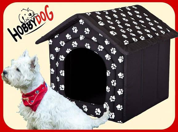 Лежак,домик для кошки или собаки 38х38х32см.HobbyDog 2 в 1, фото 2