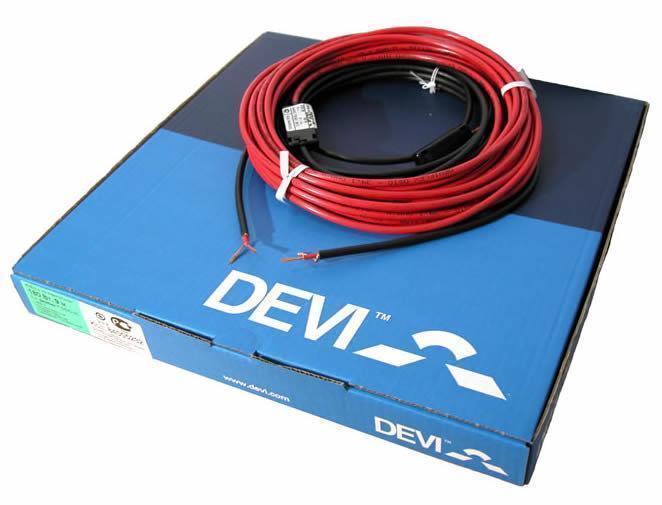 Теплый пол Deviflex 18T двужильный кабель с сплошным экраном, 535W, 2.9 м.кв.(140F1239)