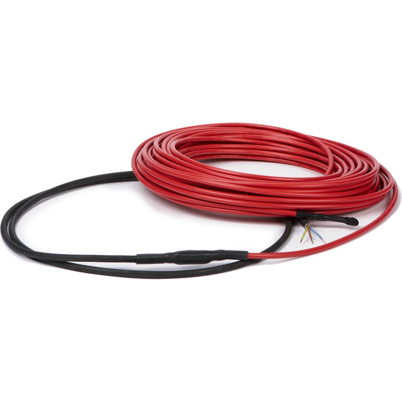 Теплый пол DeviComfort 10T двужильный, тонкий кабель с сплошным экраном, 600W, 3.7 м.кв.(87101110)