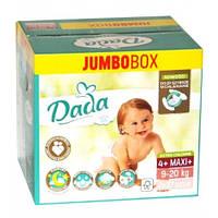 Dada Extra Soft Jumbo Box подгузники детские 4+ Maxi+ (9-20кг) 2*37 шт