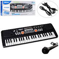 Детский синтезатор с микрофоном (49 клавиша) работает от сети