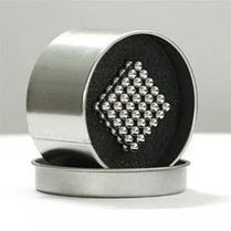 Магнитный кубик конструктор-головоломка Куб Нео Neo Cube 5 мм Серебристый, фото 2