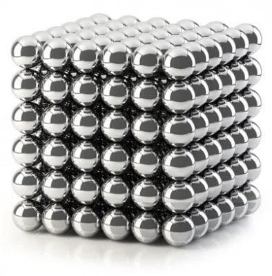 Магнитный кубик конструктор-головоломка Куб Нео Neo Cube 5 мм Серебристый