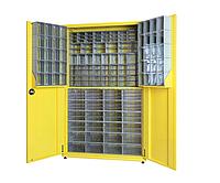 Металлический шкаф с пластиковыми ящиками TKD160S Н1890*1100*440 мм