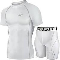 Комплект для бега Take Five футболка + шорты белые