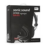 Дротові навушники з мікрофоном Sonic Sound E288 Чорно-білі, фото 8