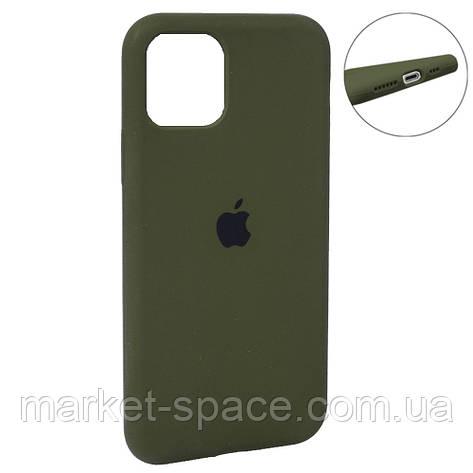 """Чехол силиконовый для iPhone 11 Pro Max. Apple Silicone Case, цвет """"Khaki (48)"""" (с закрытым низом), фото 2"""