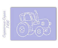 Трафарет для пряников трактор