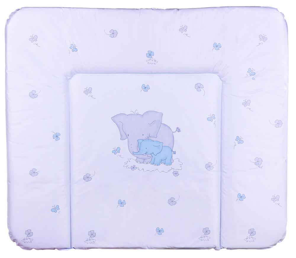 Пеленальний матрац Ceba Baby WD 85*70 multi слоники блакитний