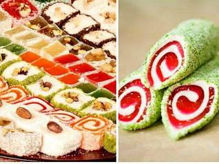 Восточные сладости ( рахат - лукум, халва узбекская)