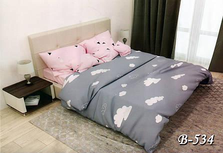 Евро постельное белье Тет-А-Тет В-534 бязь, фото 2
