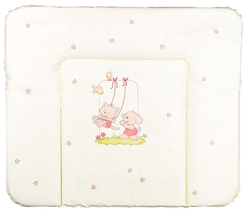 Пеленальный матрас Ceba Baby WD 85*70 multi  cat & dog салатовый