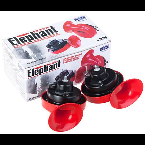Сигнал улитка СА-10130, Еlephant, Exclusive, 12V, краснo-черный