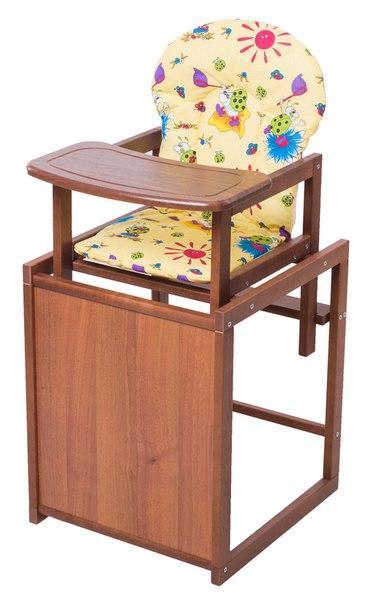 Стульчик- трансформер For Kids Бук-24 темный мдф столешница  желтый с рисунком