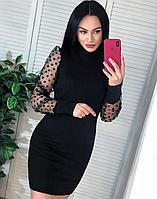 Платье женское, стильное,  черное, Новинка, 505-024-10