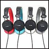 Дротові навушники з мікрофоном Sonic Sound E288 Чорно-білі, фото 9