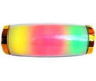 Портативная беспроводная bluetooth стерео колонка T&G Pulse E11 с разноцветной подсветкой