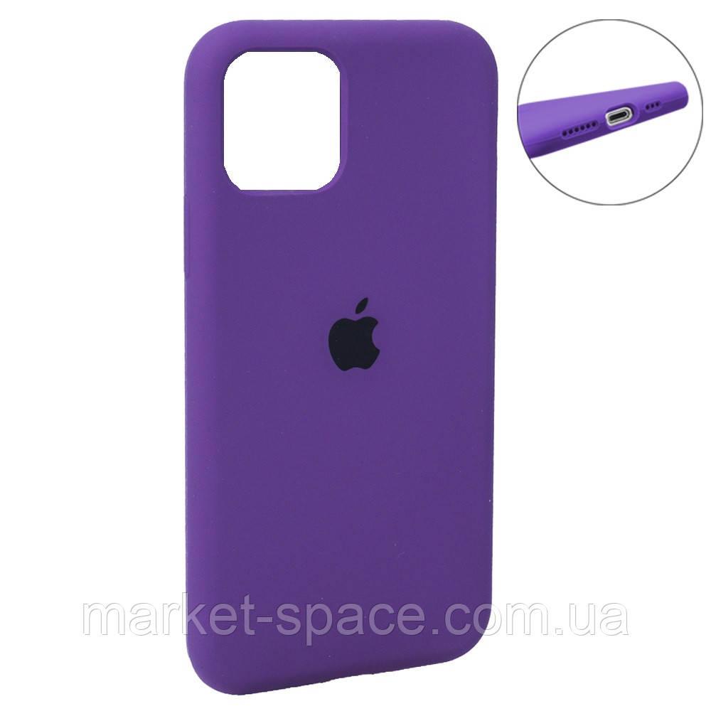 """Чехол силиконовый для iPhone 11 Pro Max. Apple Silicone Case, цвет """"Violet (45)"""" (с закрытым низом)"""