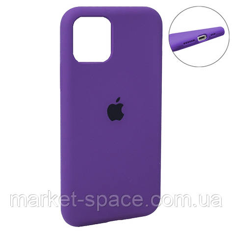 """Чехол силиконовый для iPhone 11 Pro Max. Apple Silicone Case, цвет """"Violet (45)"""" (с закрытым низом), фото 2"""