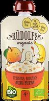 """Каша безмолочная """"Овсяная с персиком и бананом, готова к употреблению"""" органическая (110г) RUDOLFS с 4 мес."""