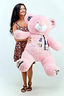 Мягкая игрушка большой розовый плюшевый мишка 130см