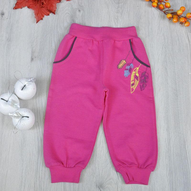 Детские  штаны из трикотажа,  для девочек 1,2.3.4 года (4 ед в уп)