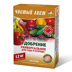 Удобрение кристаллическое Чистый лист универсальное для сада и огорода 1.2 кг
