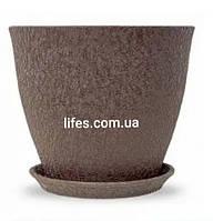Вазон керамический Магнолия шелк шоколад